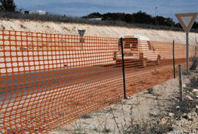 Сетка для ограждения Грифон 50м х 1м (оранжевый) фото, цена