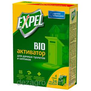 EXPEL (Экспел)  - биоактиватор для дачных туалетов и септиков саше (40 гр) фото, цена