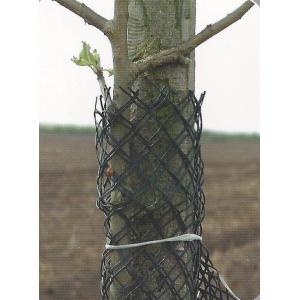 Сетка для защиты деревьев от зайцев Юта 249, 13см диаметр рукава х 100м (черный), Juta, Чехия фото, цена