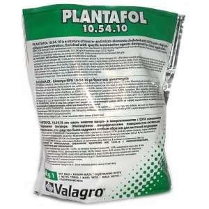 Плантафол 10.54.10 - водорастворимое комплексное удобрение для листовой подкормки, 1 кг, Valagro Италия фото, цена